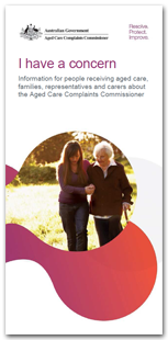 Aged Care Complaints Brochure